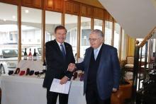 Alfonso Monsalve recibe al presidente del Tribunal Constitucional