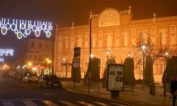 El Gran Teatro, con iluminación navideña