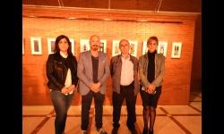 Los artistas Manuel Fernández y Gustavo Fernández, junto a las concejalas Silvia Cebrián y Gemma de la Fuente