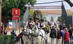 Entrada de San Isidro al recinto ferial en la romería de 2016