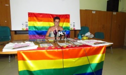 Esther Nieto-Márquez en la presentación del II Summer Rainbows