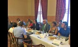 Julián Nieva, alcalde de Manzanares en el coloquio sobre energía y calidad del aire