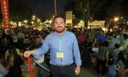Pablo Camacho, director de Fercam, en la noche del sábado