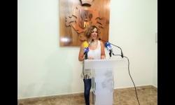 Beatriz Labián durante la rueda de prensa