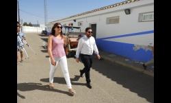 Visita de Camacho y Díaz-Benito a las pistas polideportivas