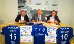 Firma del acuerdo entre Del Salto, Nieva y Collado