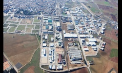 Vista aérea del polígono de Manzanares y de las zonas en las que se ampliará