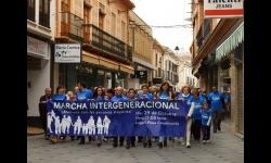 Cabecera de la Marcha Intergeneracional
