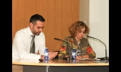 Bernal y Labián durante la ponencia