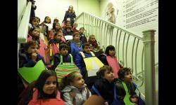 Alumnos del colegio Altagracia durante su visita al museo