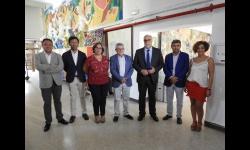 El consejero de educación visita las obras de reforma del IES Pedro Álvarez de Sotomayor