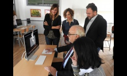 Inauguración del aula de nuevas tecnologías del IES Azuer