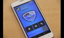 Móvil Android con la aplicación policial