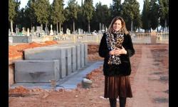 Isabel Díaz-Benito ha visitado las obras de construcción de nuevas sepulturas