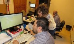 Beatriz Labián en el departamento de informática.
