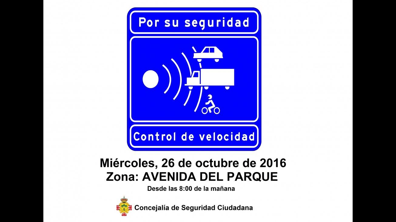 Control de velocidad en Avenida del Parque de Manzanares