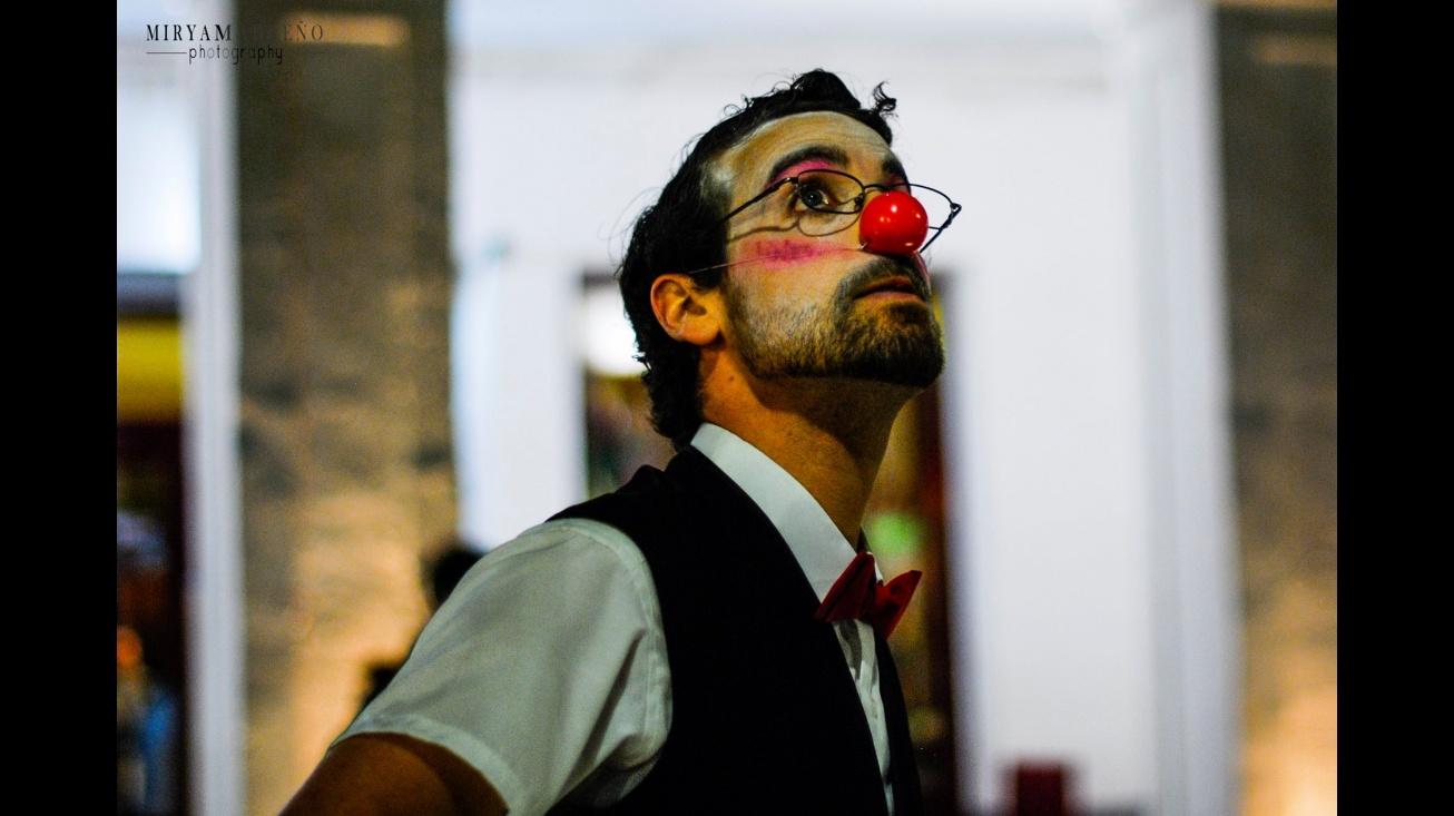 Manuel Sánchez-Migallón en su faceta de clown