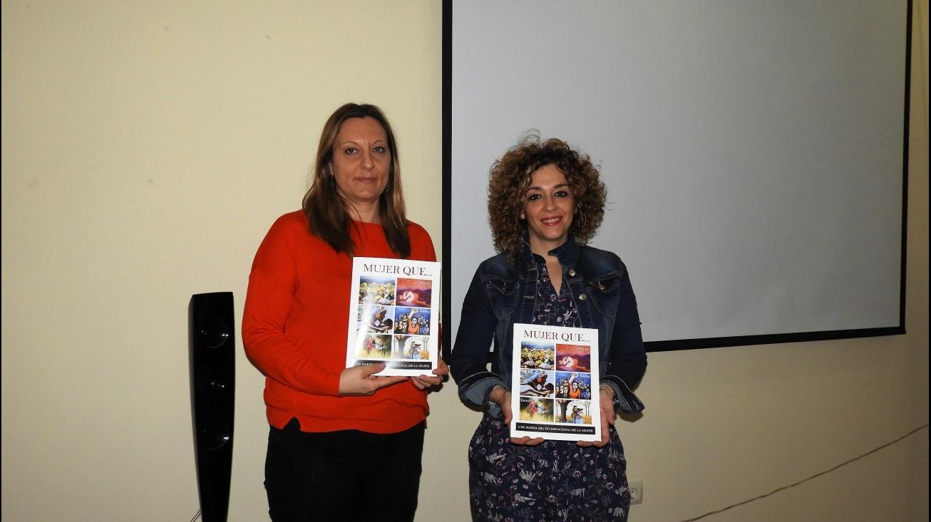 Beatriz Labián (dcha) concejal de políticas de igualdad junto a la coordinadora del Centro de la Mujer, Ángeles Morales