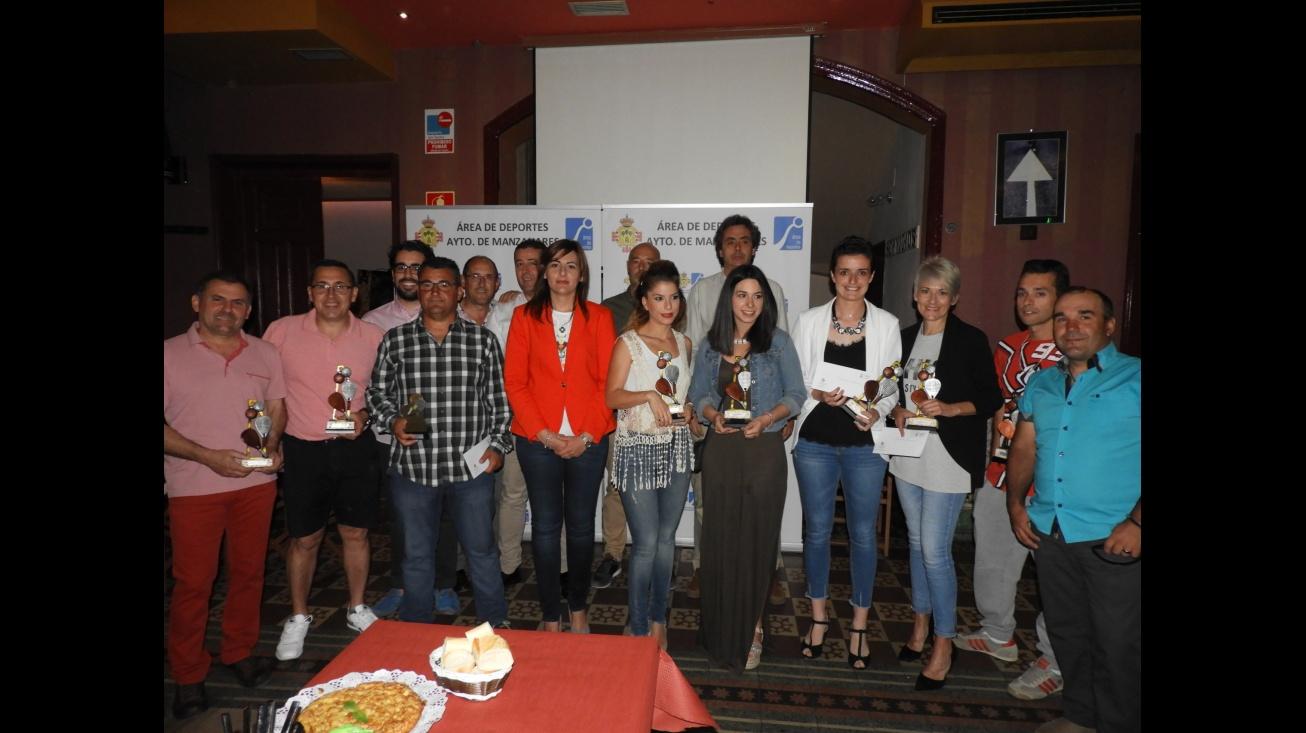 Premiados de la Liga de Pádel 2016/2017