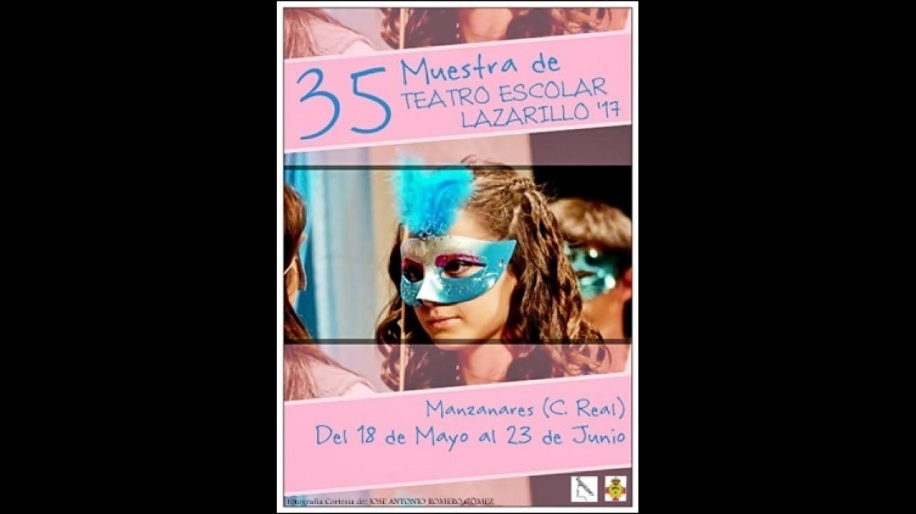 Cartel anunciador de la 35ª Muestra de Teatro Escolar Lazarillo
