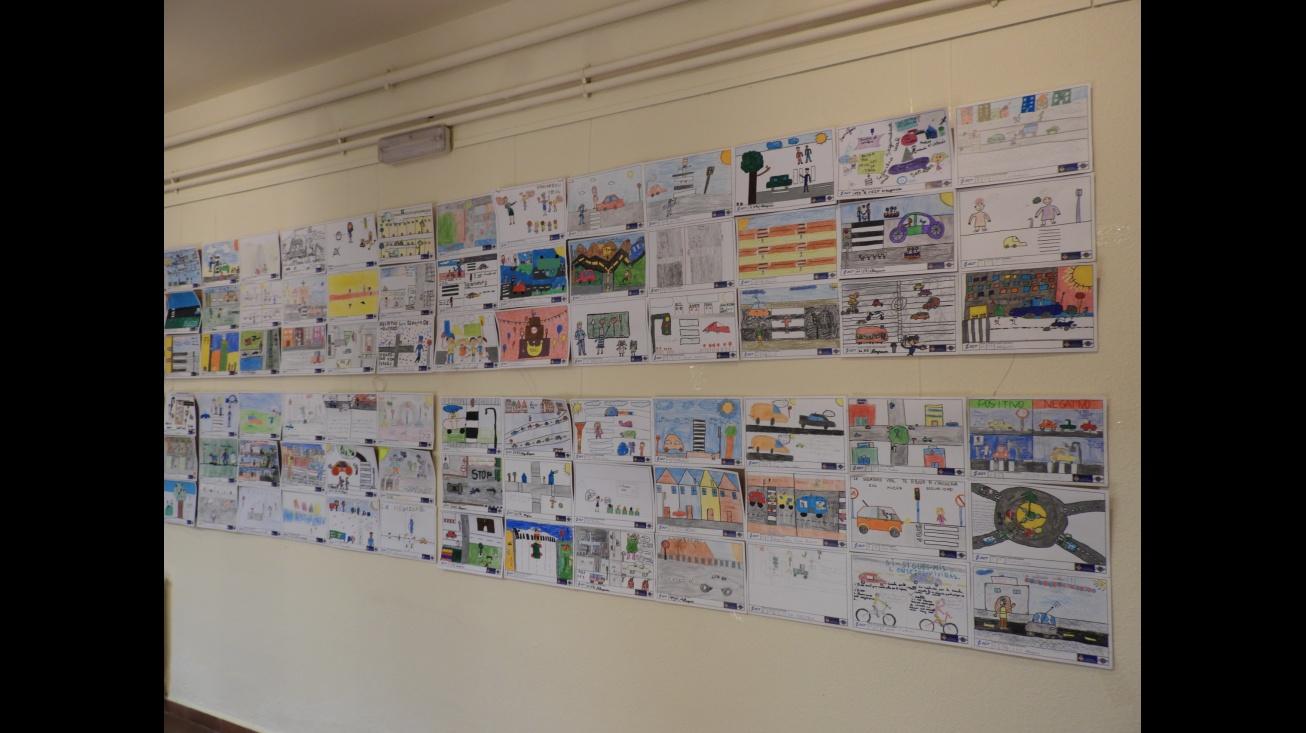 Exposición del Concurso de dibujos de las V Jornadas de Educación Vial de Manzanares