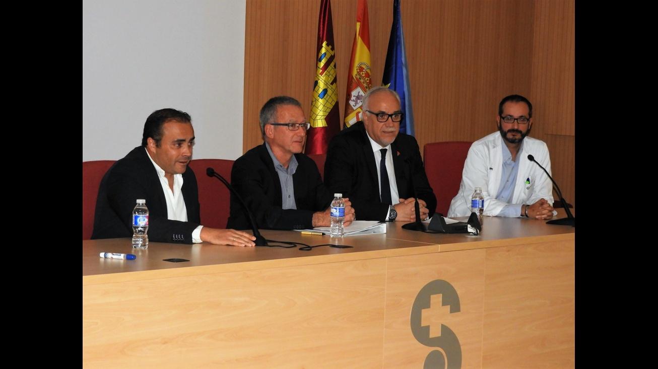 El alcalde Julián Nieva, en el acto de las XXVI Sesiones Inter-Hospitalarias de la Sociedad de Madrid-Castilla La Mancha de Alergología e Inmunología Clínica