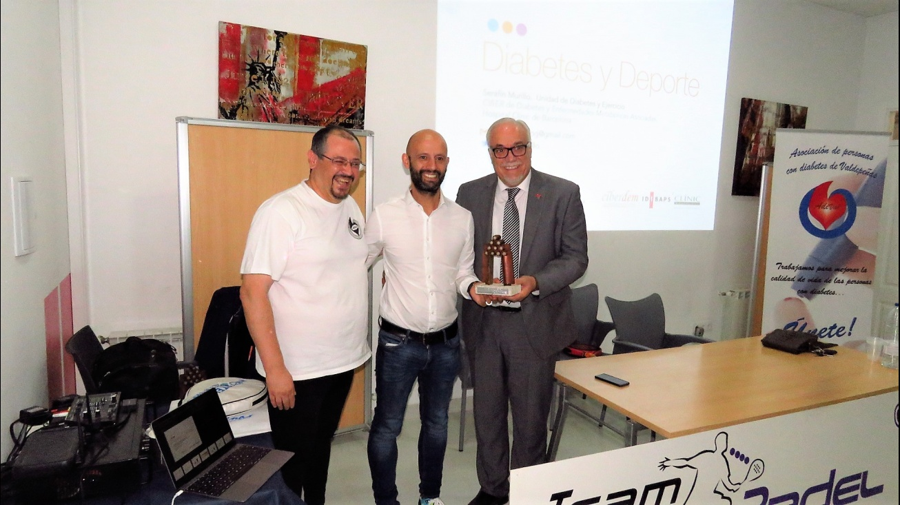 El presidente de Adival, con Serafín Murillo y Julián Nieva