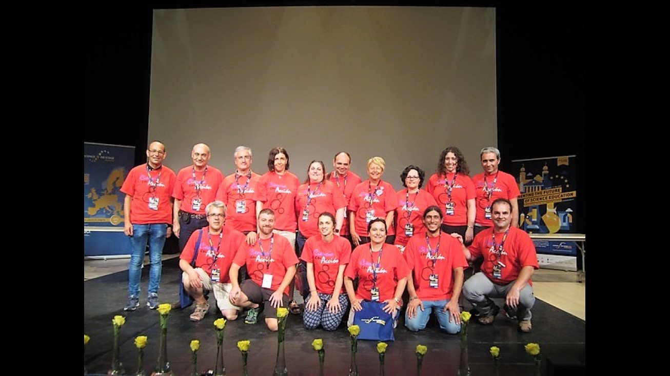 "Participantes en el Congreso Internacional ""Sciencie on Stage"""