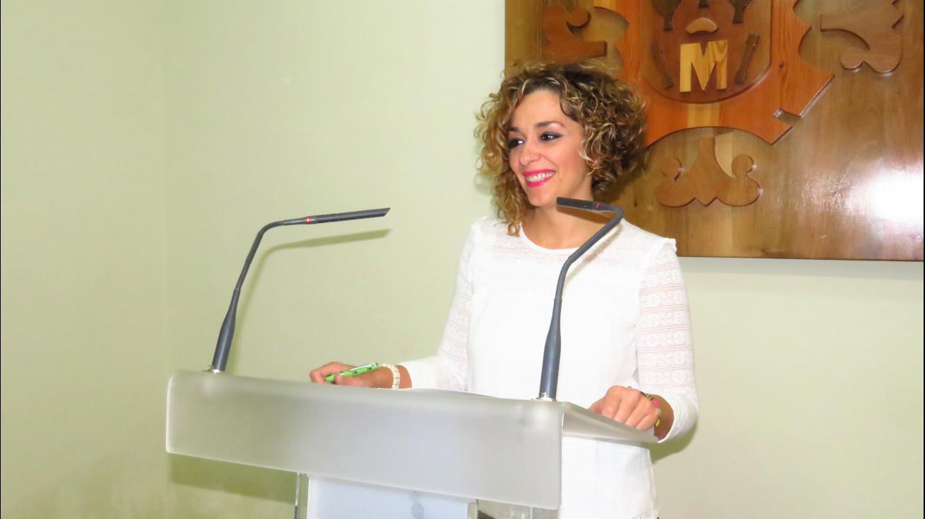 Beatriz Labián durante la comparecencia de prensa