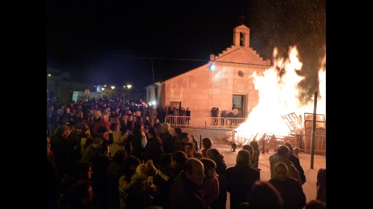 Imagen archivo hoguera de San Blas