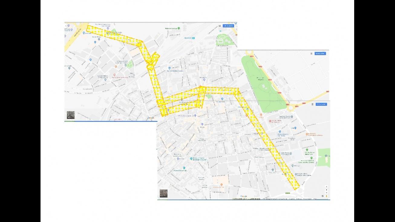 Plano informativo de los tramos urbanos de la N-430