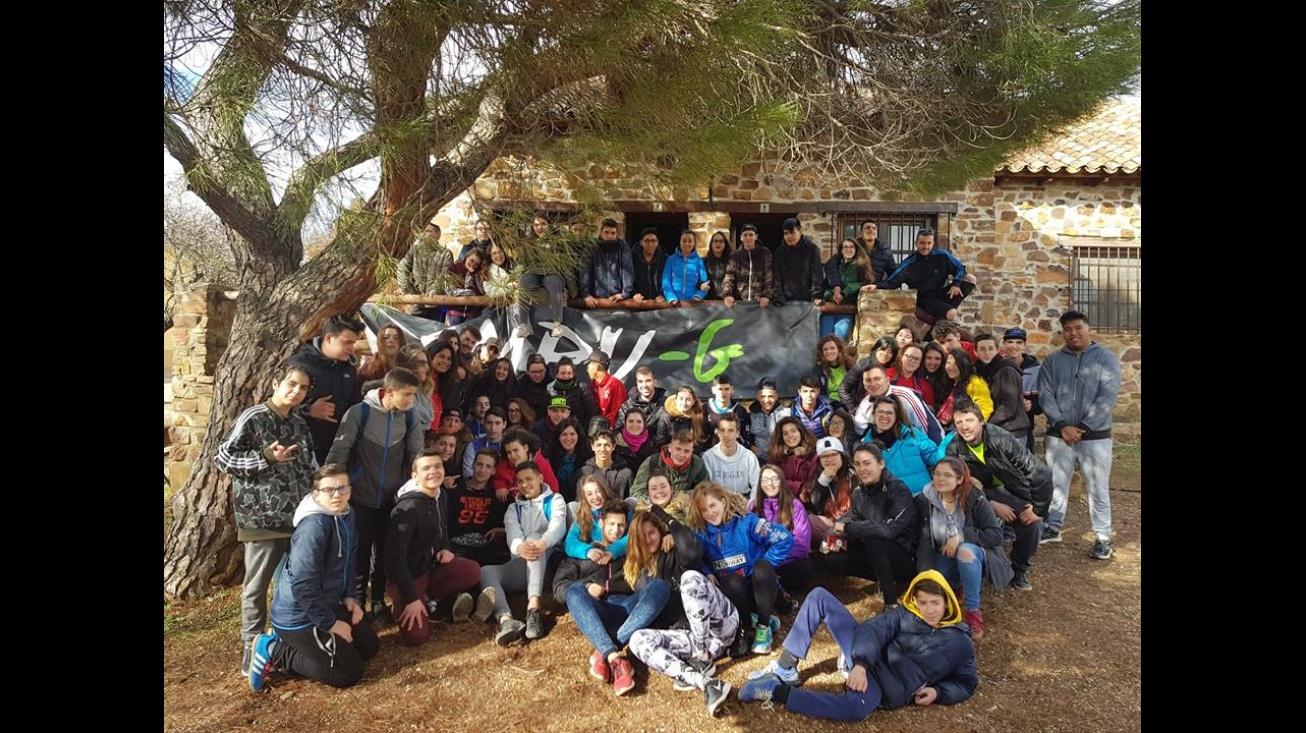 Algunos de los participantes en el campamento