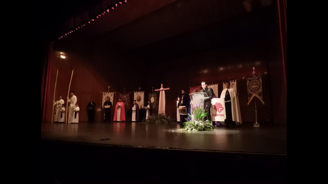 Momento durante el pregón de Semana Santa