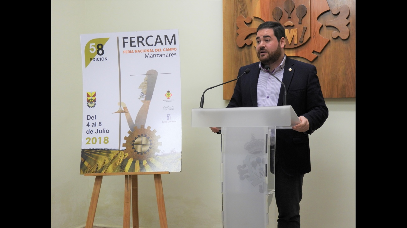 Pablo Camacho presenta el cartel de Fercam 2018