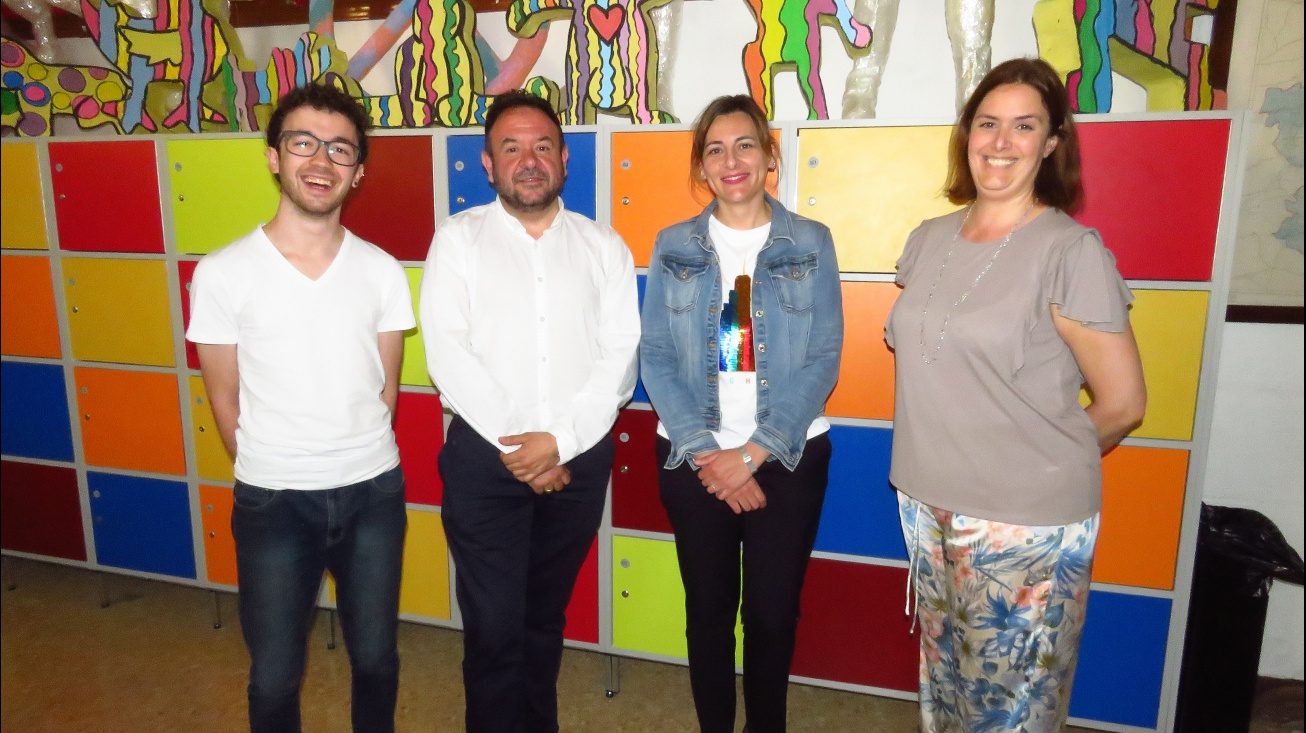 Kike Labián, Juan López de Pablo, Isabel Díaz-Benito y Leticia Sánchez