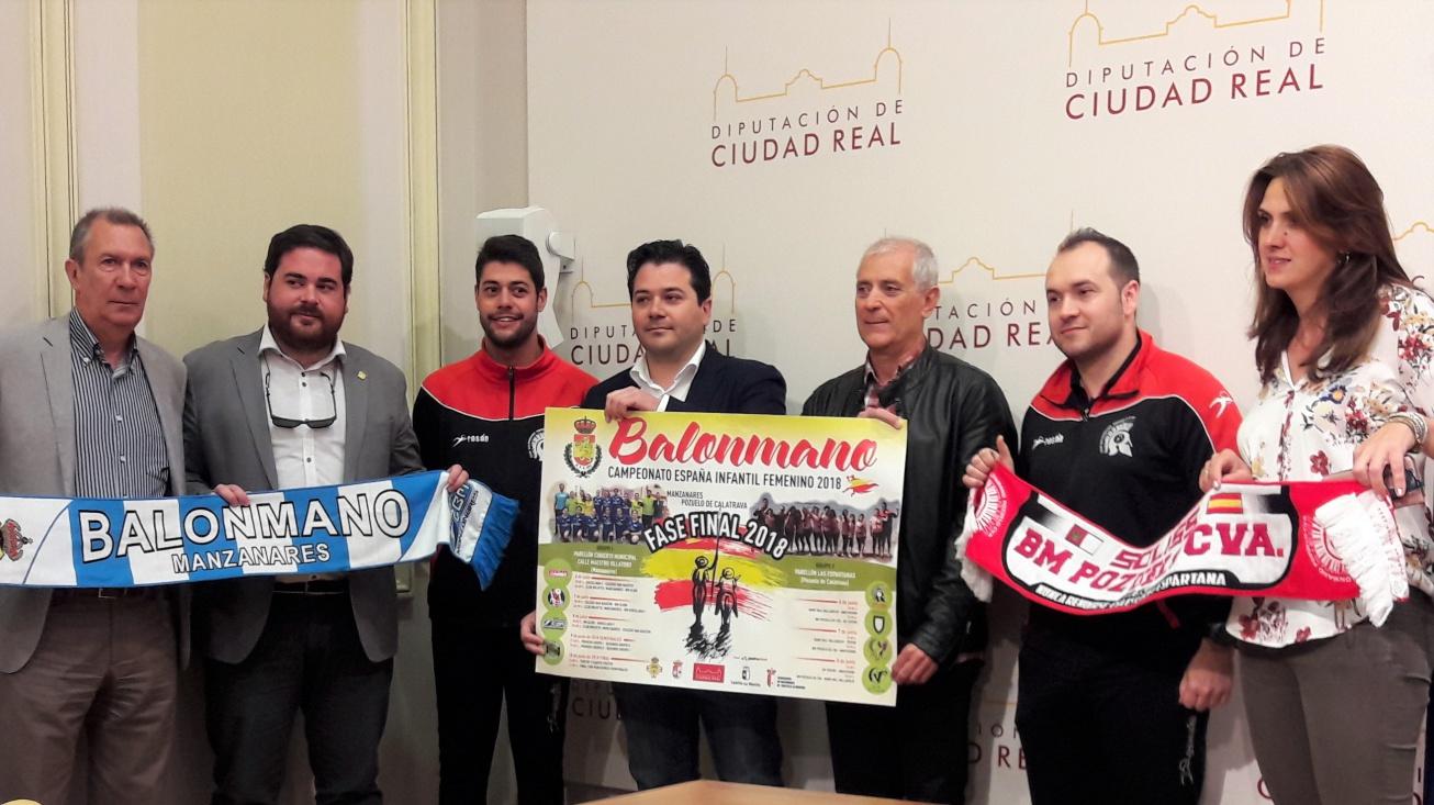 Foto conjunta tras la presentación del Campeonato de España