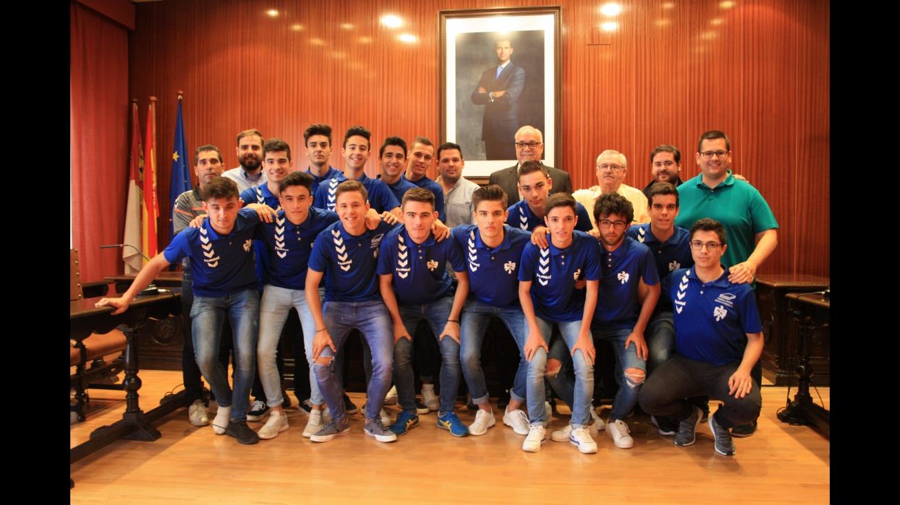 Recepción oficial al Manzanares CF Juvenil