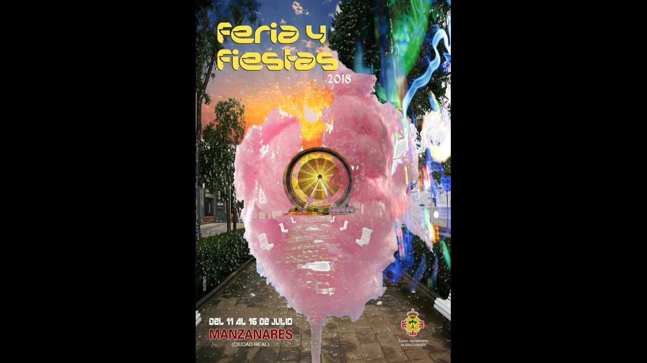 Cartel de la feria y fiestas realizado por Gustavo Fernández