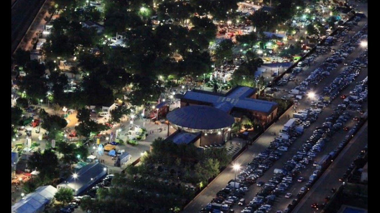 Vista aérea de Fercam - imagen de archivo