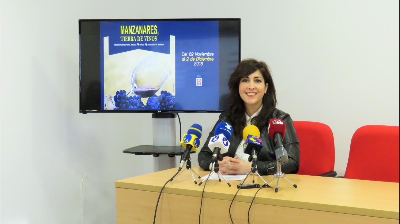 Gemma de la Fuente ha presentado las IV Jornadas Manzanares Tierra de Vinos