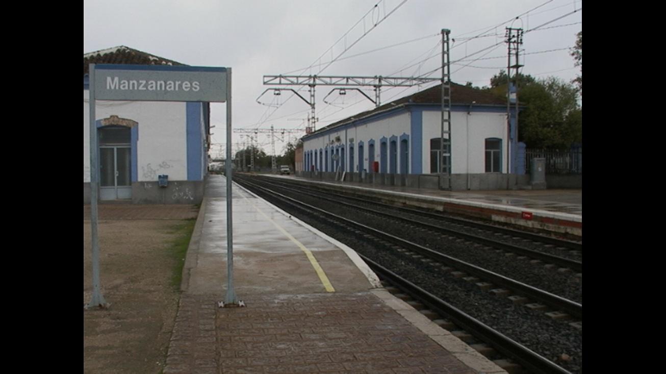Estación de tren de Manzanares - imagen de archivo