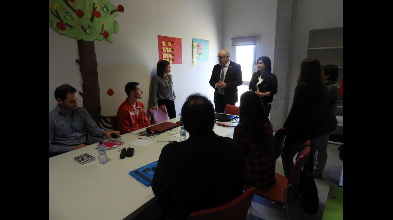 Imagen de archivo - Visita de Julián Nieva a la Lanzadera 2018