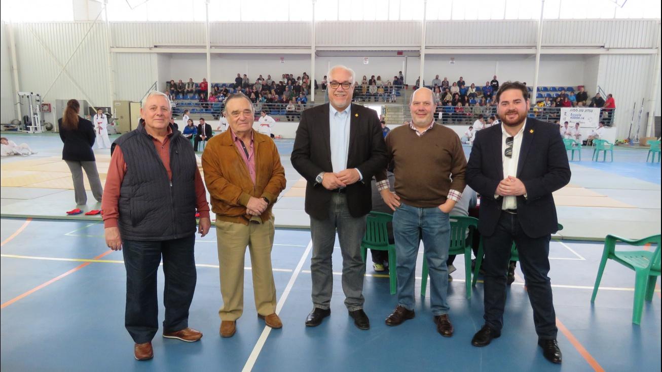 Julián Nieva expresó el apoyo municipal a la Federación de Judo y club organizador