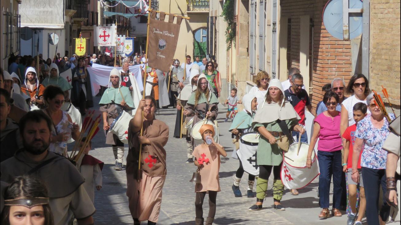 Uno de los desfiles celebrados en las Jornadas Medievales 2018