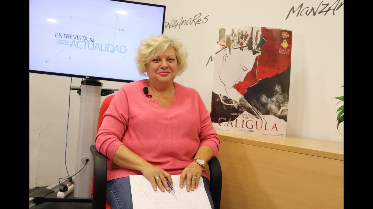 Teresa Serna directora de Calígula en Manzanares10TV