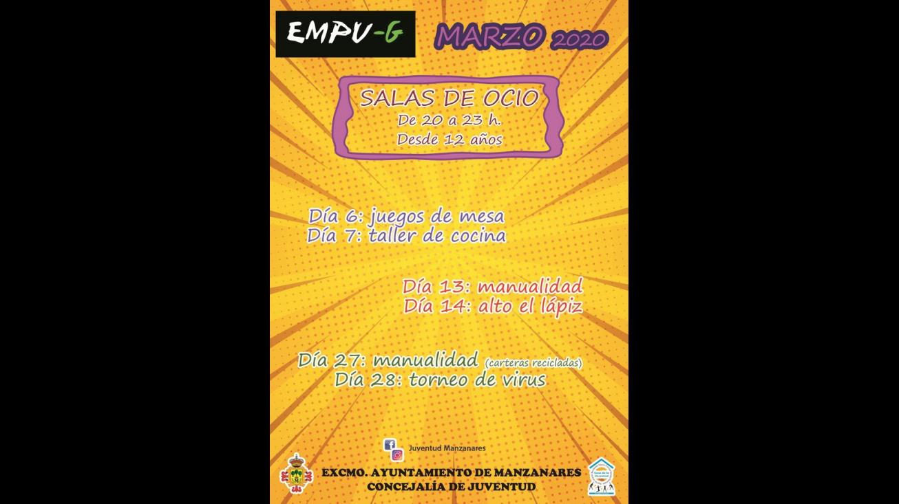 Salas de ocio - Marzo 2020 (Empu-G)