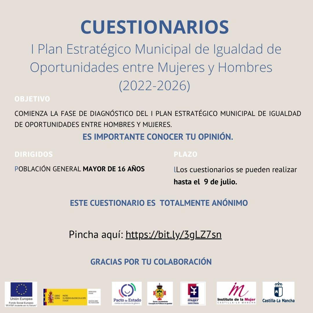 CUESTIONARIOS I Plan Estratégico Municipal de Igualdad de Oportunidades entre Mujeres y Hombres (2022-2026)