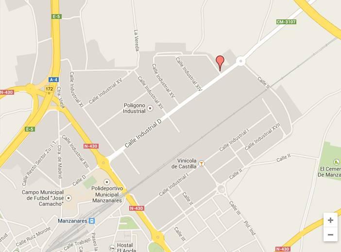 Imagen: ubicación Punto limpio de Manzanares
