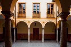 """Imagen: patio centro cultural """"Ciega de Manzanares"""""""