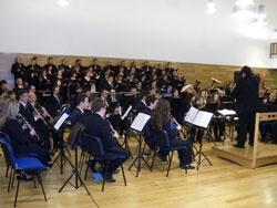 Imagen: ensayo de la banda municipal en la escuela de música